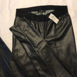 Ann Taylor faux leather legging